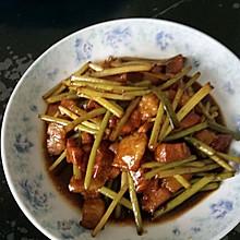 蒜苔炒肉#德国MIji爱心菜#