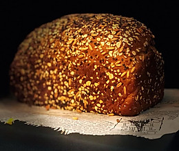 黑麦杂粮吐司的做法