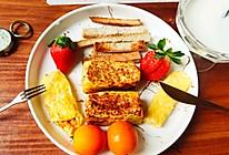 #憋在家里吃什么#给你一天好心情:黄金香蕉吐司卷的做法