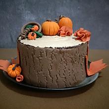 秋意盈盈栗子奶油蛋糕#马卡龙·奶油蛋糕看过来#
