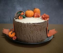 秋意盈盈栗子奶油蛋糕#马卡龙·奶油蛋糕看过来#的做法