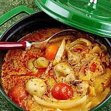 红咖喱鸡肉杂蔬
