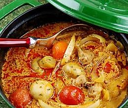 红咖喱鸡肉杂蔬的做法