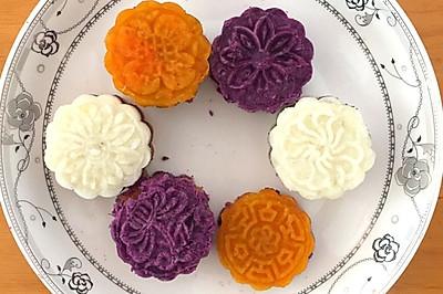 山药紫薯红薯糕