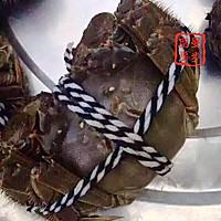 家常菜系列 - 咸肉蒸大闸蟹的做法图解1