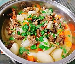 啤酒萝卜炖羊肉的做法