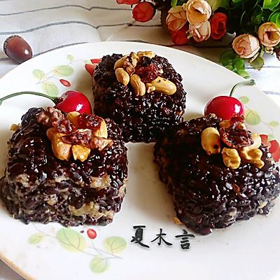 栗子黑米糕