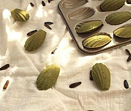 抹茶瓜子仁玛德琳(植物油版)的做法