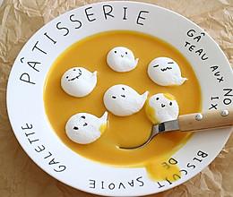 万圣节最萌的小礼物,小幽灵蛋白糖的做法