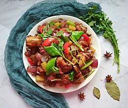 西北特色大盘鸡#做道懒人菜,轻松享假期#的做法