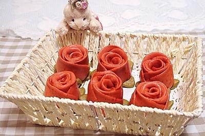 """玫瑰花卷——爱对了人情人节每天""""豆果"""""""