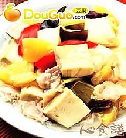 酸甜凤梨豆腐的做法