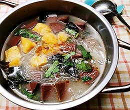 家庭简易鸭血粉丝汤的做法