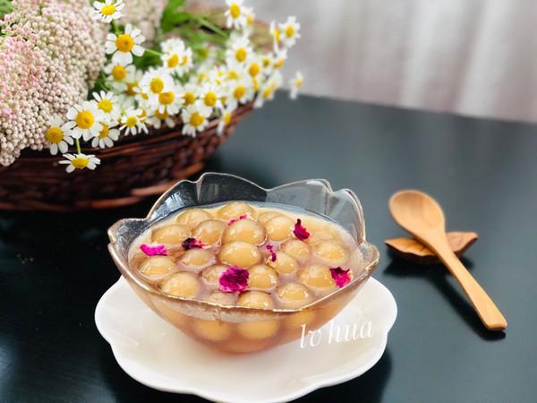 一道仙气飘飘的小甜品/玫瑰芋圆 净素食