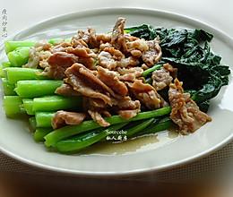 瘦肉炒菜心的做法