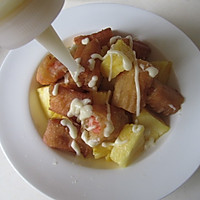 菠萝油条虾的做法图解8