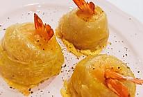 手抓饼妙用之凤尾虾卷的做法