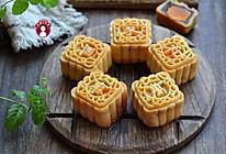 白莲蓉&红豆沙蛋黄月饼的做法