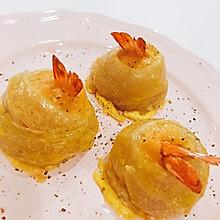 手抓饼妙用之凤尾虾卷