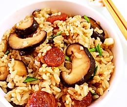 香菇腊肠炒饭  一人餐的做法