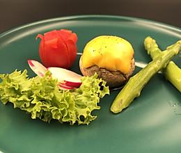 芝士焗三文鱼口蘑的做法