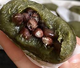 粒粒红豆-艾草青团的做法