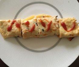 火腿蔬菜鸡蛋饼的做法