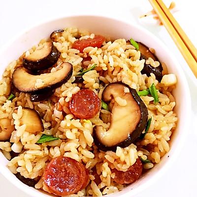 香菇腊肠炒饭  一人餐