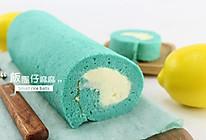 蝶豆花蛋糕卷#雀巢营养早餐#的做法