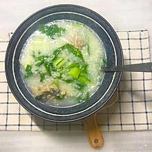 #好吃不上火#排骨青菜粥