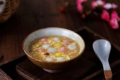 蛋花酒酿汤圆