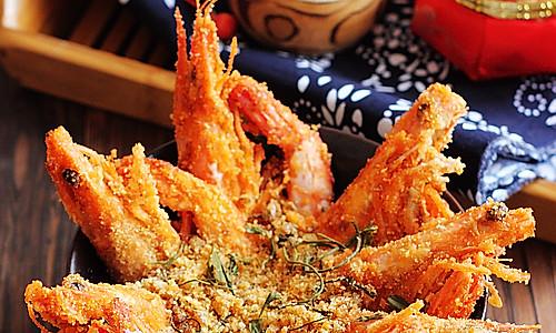 避风塘茶味虾的做法