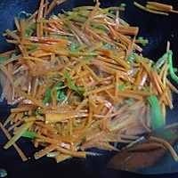 清炒胡萝卜的做法图解2