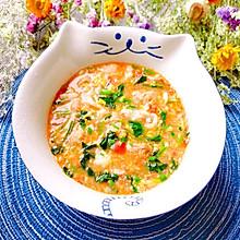 #换着花样吃早餐#菠菜肉丸疙瘩汤