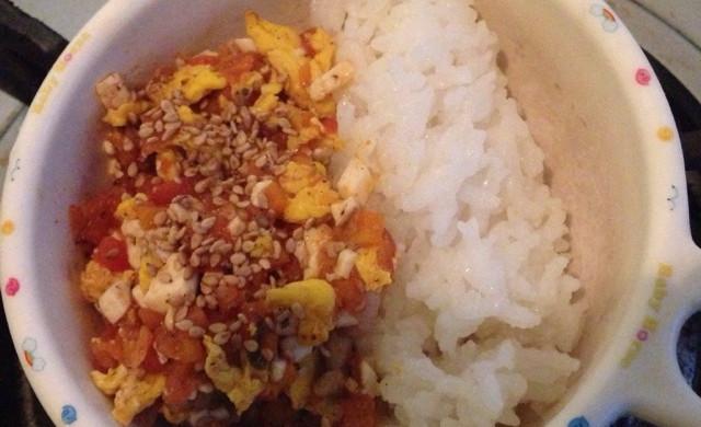 【宝宝1+辅食】豆腐番茄蛋