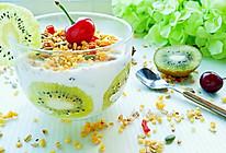 麦片水果酸奶的做法