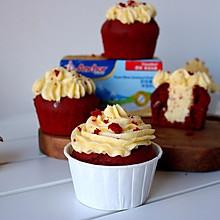 红丝绒杯子蛋糕#安佳烘焙学院#