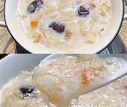 桃胶牛奶雪燕银耳羹的做法