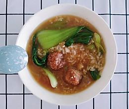 一人食:丸子汤饭的做法