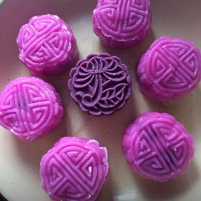 紫薯冰皮月餅