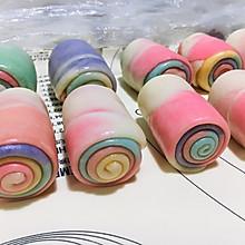 #爱好组-低筋#彩虹蛋黄酥