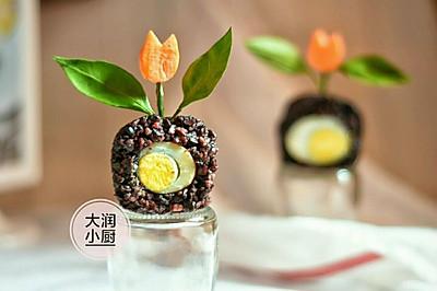 排毒抗抑郁-胡麻花盘米团#月子餐吃出第二春#
