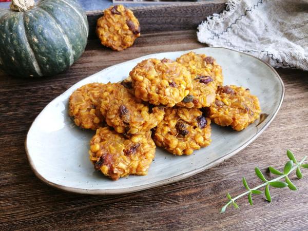 减肥也可以吃的美味甜点小零食,不加糖不加油,贝贝南瓜燕麦饼的做法