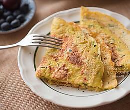 【西葫芦燕麦鸡蛋饼】减肥必备主食的做法