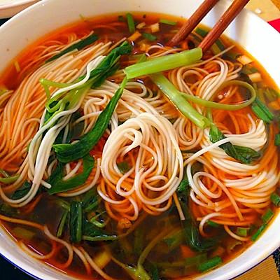 简单好吃蔬菜汤面