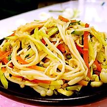 瘦身美食---金针菇拌黄瓜