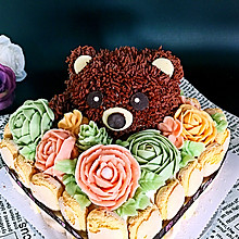 小熊蛋糕#豆果5周年#