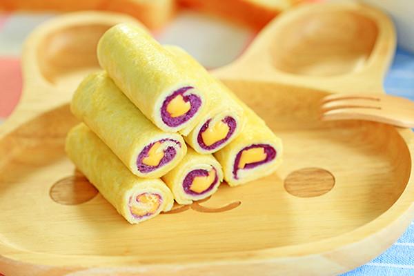 爆浆紫薯奶酪卷的做法