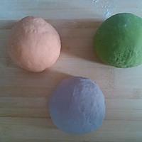 三色春饼荷叶蒸饼的做法图解2