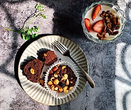 巧克力果仁小蛋糕的做法